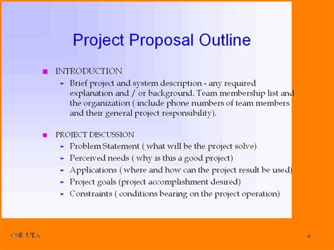 Template For A For A Project 7 project outline a cover letters