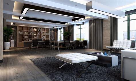 bookcase wallpaper designs modern ceo office interior