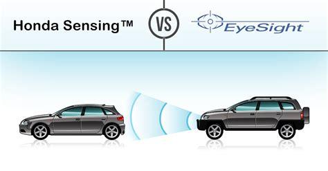 honda and subaru subaru eyesight vs honda sensing