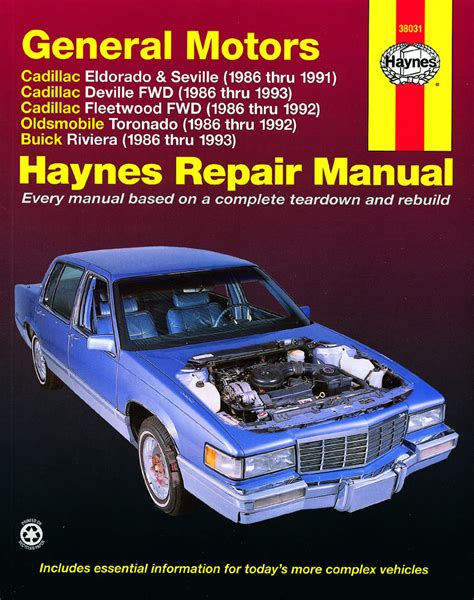 car manuals free online 1986 buick riviera engine control cadillac 1986 1993