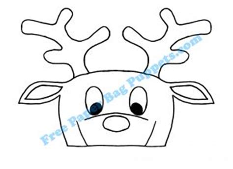 printable reindeer paper puppet best photos of reindeer paper bag template printable