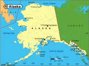 where is alaska on the map of the united states map of alaska travel map travelquaz