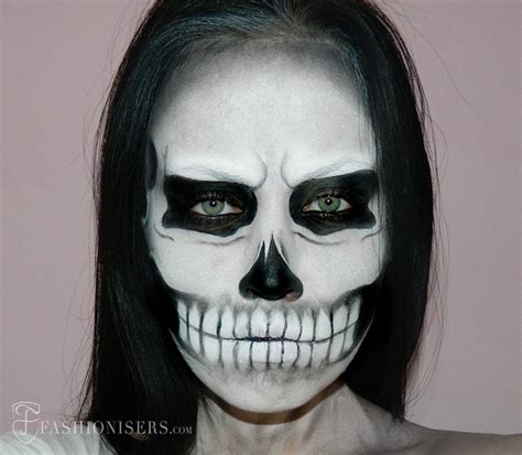 Makeup Sk Ll gaga inspired skull makeup tutorial