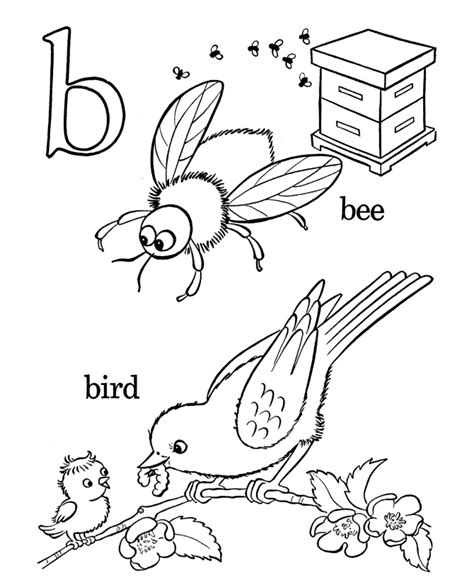alphabet coloring pages letter b lc free printable