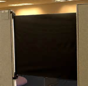 Cubicle door increases productivity isolation from annoying co