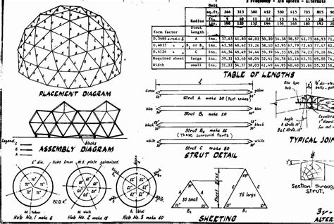 Geodesic Dome House Plans 20 Foot Span For Saw Shed Pinteres