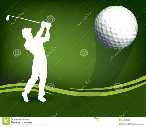 hitting or swinging golf golf ball player stock vector illustration of birdie