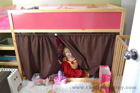 bottom bunk curtains ikea kura bunk bed curtains hack recipe for curtain sizing