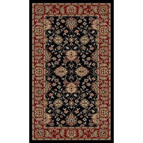 Through Rugs by Shop Style Selections Natcher Black Rectangular Indoor