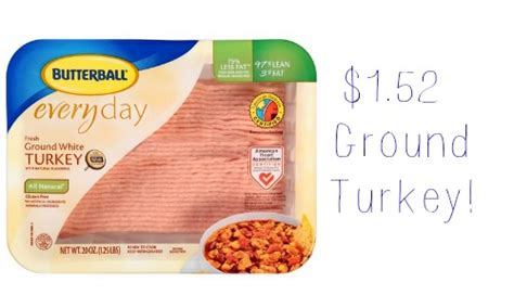 printable butterball ground turkey coupons butterball coupon 1 52 ground turkey southern savers
