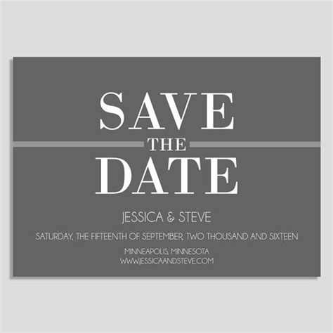 25 best ideas about save the date templates on pinterest