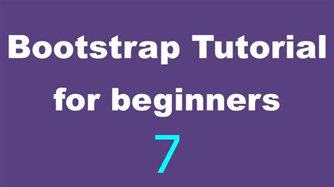 tutorial bootstrap statistics bootstrap tutorial for beginners 07 the grid layout