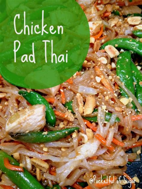 easy chicken pad thai recipe recetas pinterest