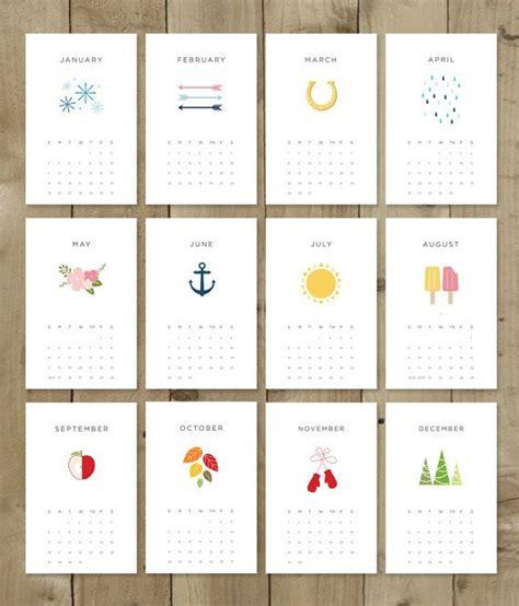 cool calendar template printable 2015 calendar pdf instant diy
