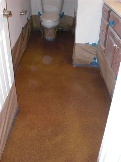 stained concrete bathroom bathroom stained concrete floors bathroom other metro
