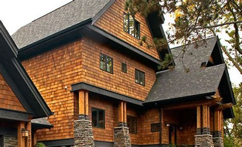 Gambrel Roof House western red cedar shake siding shakertown shake shingle