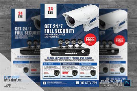 Security Camera Cctv Shop Flyer Flyer Templates Creative Market Cctv Flyer Template
