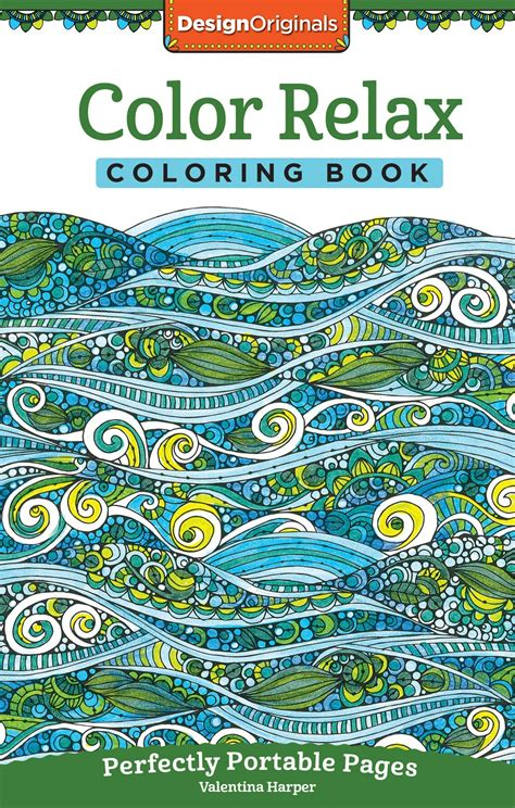 relaxed color color relax coloring book fox chapel publishing