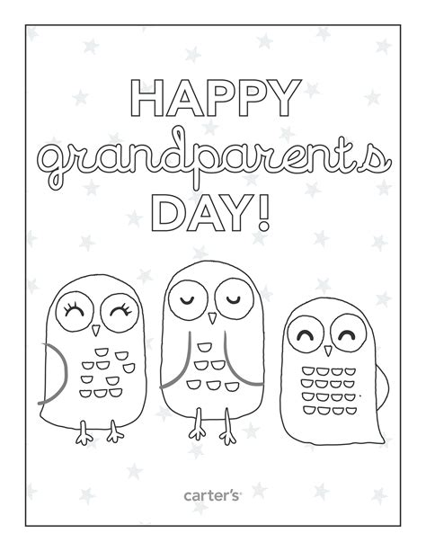 Happy Grandparents Day Card Template by Grandparents Day Coloring Pages To And Print For Free