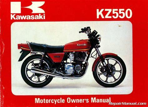 1981 Kawasaki Kz550a2 Motorcycle Owners Manual