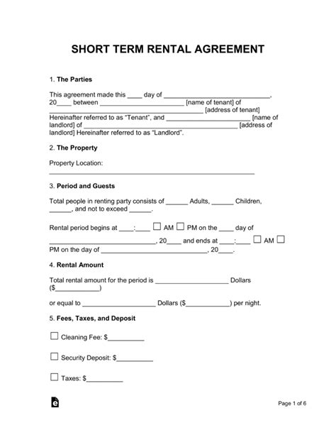 1 year lease agreement ontario term vacation rental lease agreement eforms