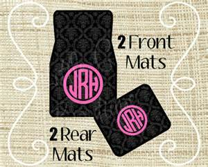 Personalised Floor Mats Car Personalized Car Mats Car Mats Custom Car Mat Monogram Car
