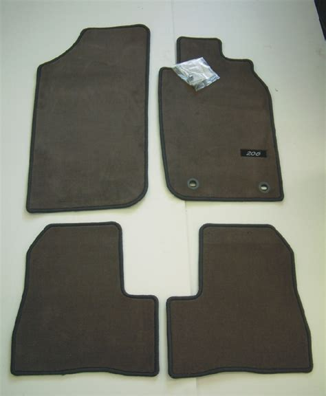Luxury Door Mats Peugeot 206 Luxury Carpet Mats Grey 3 5 Door Hatch Sw