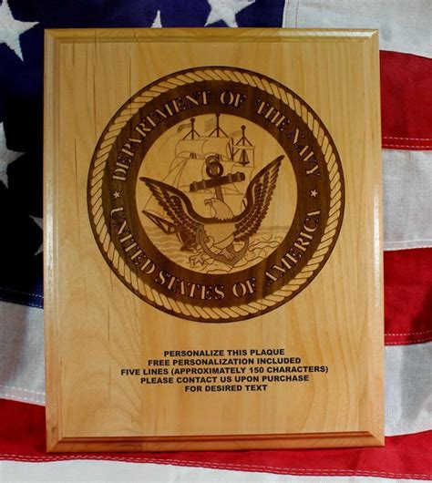 Handcrafted Plaques - personalized us navy seal plaque award gift