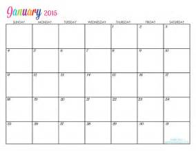 January 2015 Calendar Printable Custom Editable Free Printable 2015 Calendars Titus