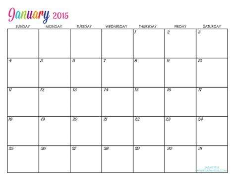 printable calendar 2015 that i can edit custom editable free printable 2015 calendars sarah titus