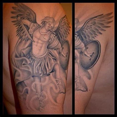 david mushaney tattoos tattoos black and gray saint