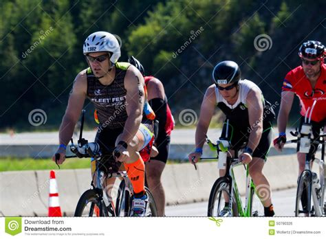 coeur alene ironman cycling event editorial photo