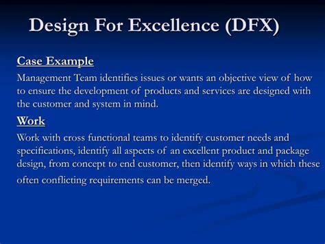 ppt design for excellence dfx powerpoint presentation