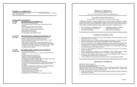 City Manager Sle Resume by Sales Management Resume Exle