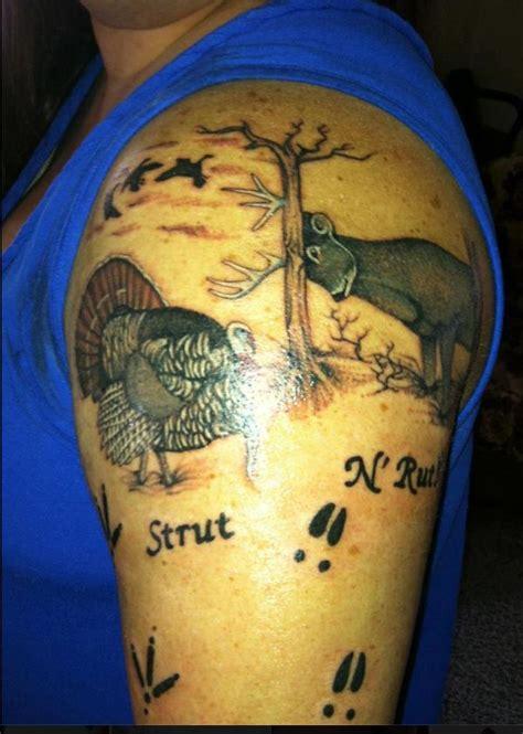turkey hunting tattoos tat2 jpg 599 215 841 turkey