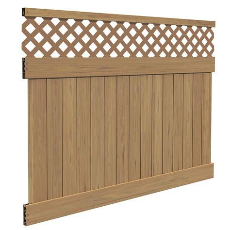 veranda yellowstone 6 ft h x 8 ft w cypress vinyl lattice top fence panel kit 73014353 the