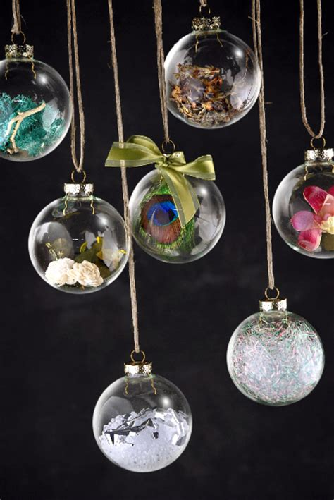 4 clear glass ball 3in christmas ornaments silver tops 80mm