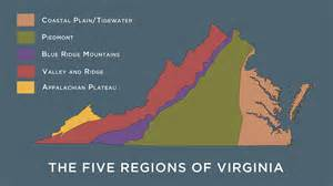 5 regions of map what are the five physical regions of virginia s geography