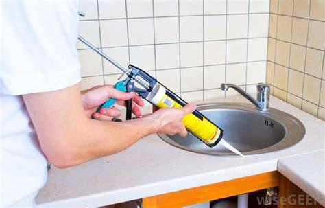 kitchen sink caulk seal kitchen sink caulk seal how to caulk seal a kitchen sink