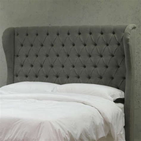 tufted headboard with wings bedroom furniture headboards beds velvet home living
