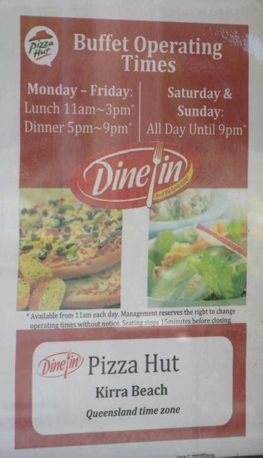 lovely lunch pizza hut buffet restaurant kirra beach qld