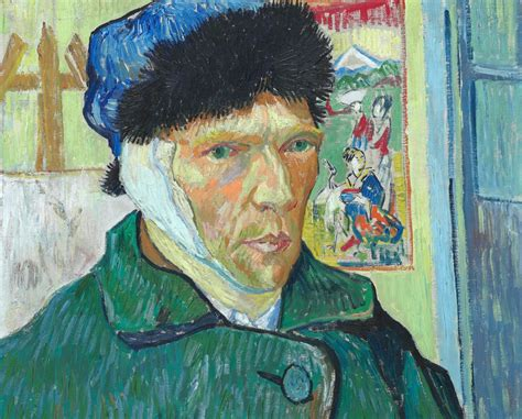 van gogh ear vincent van gogh self portrait with bandaged ear the