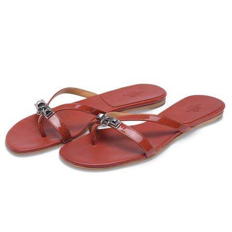 Sandal Hermes Putih 2 hermes paprika patent leather corfou sandals 187 blue spinach