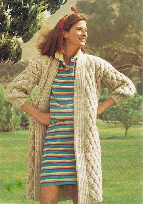 vintage knitted patterns quilt stitch coat vintage knitting pattern pdf t189
