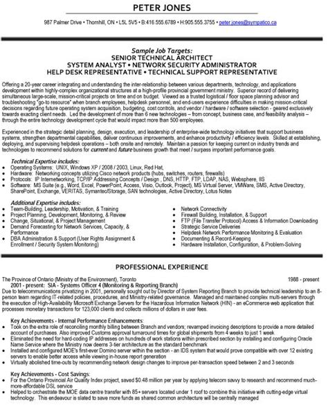 Sle Resume Of Enterprise Architect Technical Architect Resume Sle 28 Images Technical Architect Resume Sales Architect Lewesmr