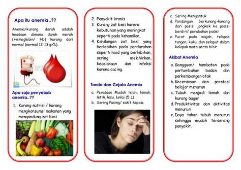 membuat brosur tentang penyakit asma leaflet anemia