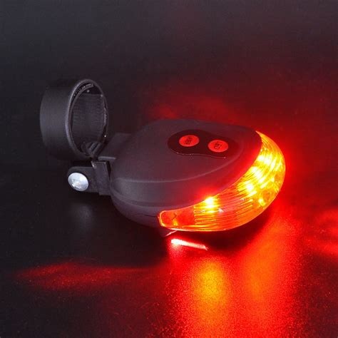 Senter 7 Led Laser Infamerah Senter Laser bicycle laser strobe taillight 5 led lu led sepeda
