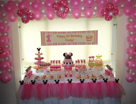 Minnie Mouse St Birthday Decorations by Minnie Mouse Birthday Ideas Photo 1 Of 15 Catch