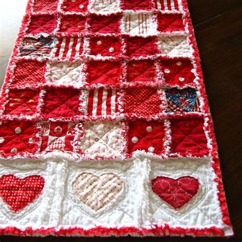 valentines day table runner s day quilted table runner with appliqued hearts