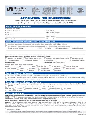 fillable mdc application for re admission miami
